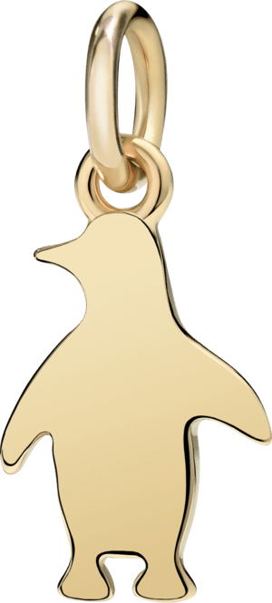 Charm Dodo Pinguin (klein) aus 750 Gelbgold