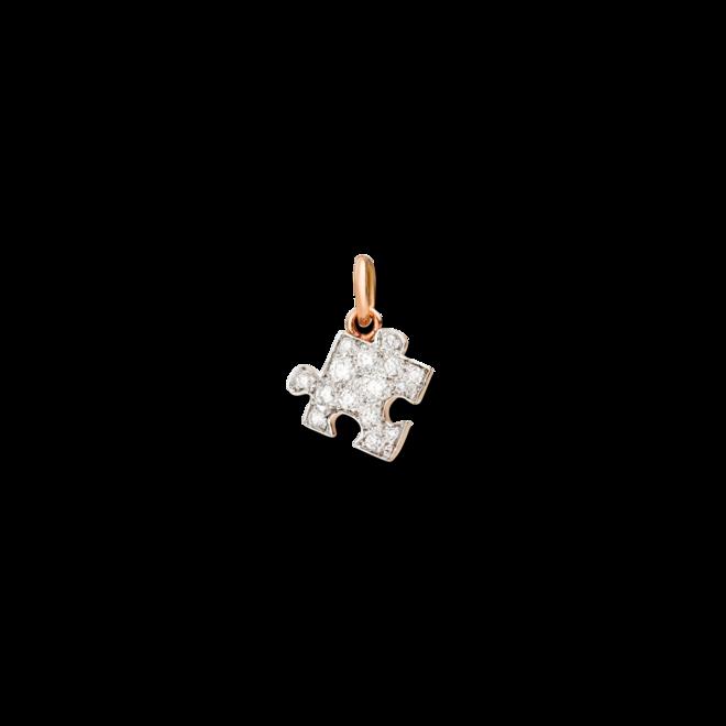 Anhänger Dodo Puzzle aus 375 Roségold mit mehreren Diamanten bei Brogle