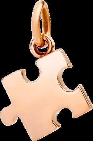 Anhänger Dodo Puzzle aus 375 Roségold