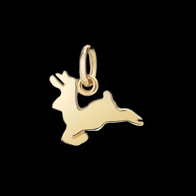 Charm Dodo Rentier (klein) aus 750 Gelbgold