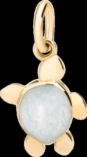 Charm Dodo Schildkröte aus 750 Gelbgold und Emaille