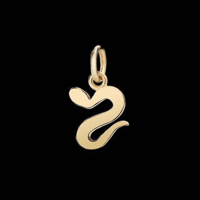 Charm Dodo Schlange (klein) aus 750 Gelbgold