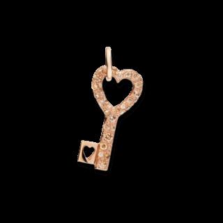 Dodo Charm Schlüssel Diamanten DMB0012-KEY0L-DBR9R