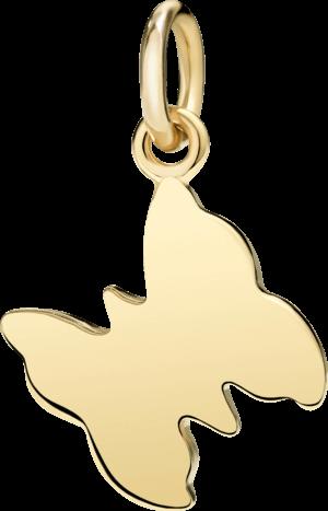 Charm Dodo Schmetterling (groß) aus 750 Gelbgold