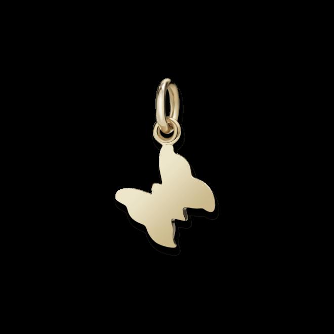 Charm Dodo Schmetterling (klein) aus 375 Roségold