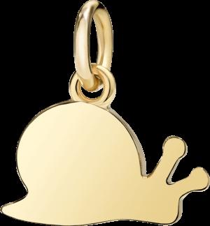 Charm Dodo Schnecke (groß) aus 750 Gelbgold