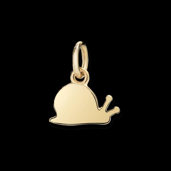 Charm Dodo Schnecke (klein) aus 750 Gelbgold