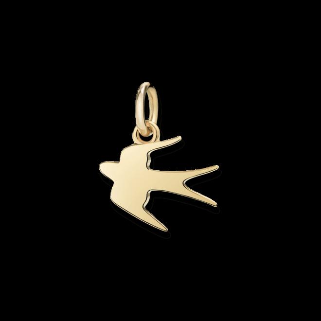 Charm Dodo Schwalbe (klein) aus 750 Gelbgold