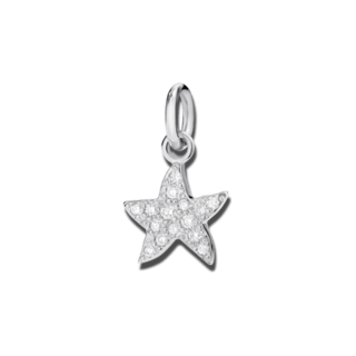 Dodo Charm Seestern (klein) Diamant D3STPOB/B