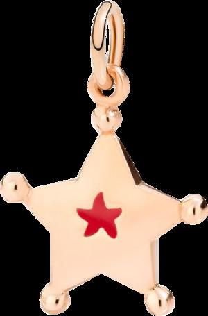 Charm Dodo Sternchen aus 375 Roségold und Emaille
