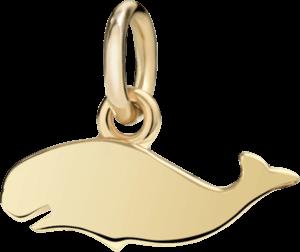 Charm Dodo Wal (klein) aus 750 Gelbgold
