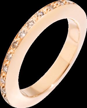 Ring Dodo Disc aus 375 Roségold mit mehreren Diamanten (0,34 Karat)