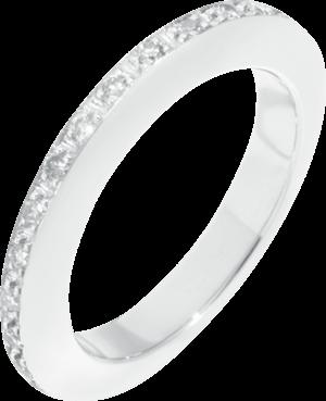 Ring Dodo Disc aus 375 Weißgold mit mehreren Diamanten (0,3 Karat)