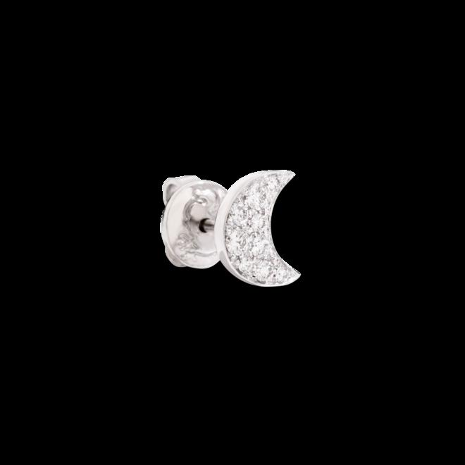 Ohrstecker Dodo Halbmond aus 750 Weißgold mit 9 Diamanten (2 x 0,075 Karat) bei Brogle