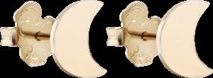 Ohrstecker Dodo Halbmond aus 375 Roségold