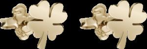 Ohrstecker Dodo Kleeblatt aus 375 Roségold