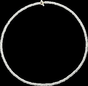 Halskette Dodo Körnerkette aus 925 Sterlingsilber und 750 Gelbgold
