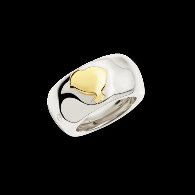 Ring Dodo Küken aus 925 Sterlingsilber und 750 Gelbgold