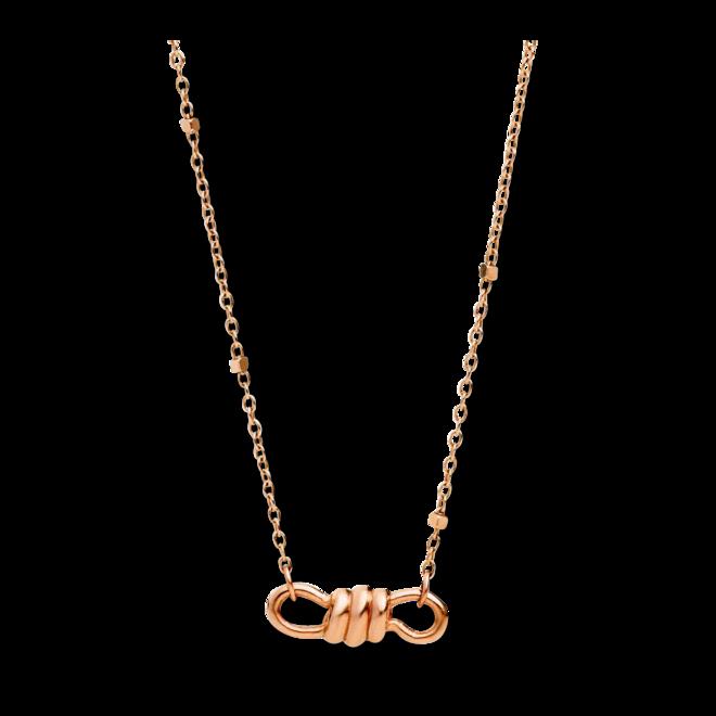 Halskette mit Anhänger Dodo Mini-Nodo aus 375 Roségold bei Brogle