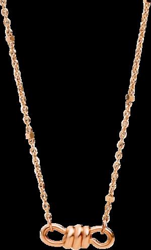 Halskette mit Anhänger Dodo Mini-Nodo aus 375 Roségold