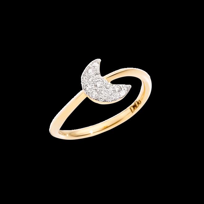 Ring Dodo Mond aus 750 Gelbgold mit 16 Brillanten (0,14 Karat) bei Brogle