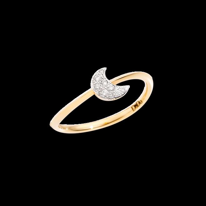 Ring Dodo Mond aus 750 Gelbgold mit 8 Brillanten (0,05 Karat) bei Brogle