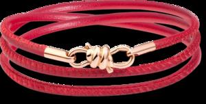Armband Dodo Nodo aus 375 Roségold und Nappaleder Größe 16 cm