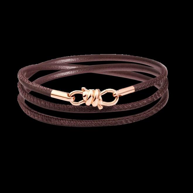 Armband Dodo Nodo aus 375 Roségold und Nappaleder Größe 16 cm bei Brogle