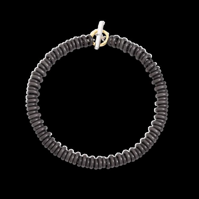 Armband Dodo Rondelle aus 925 Sterlingsilber, 750 Gelbgold und Titanium Größe S bei Brogle