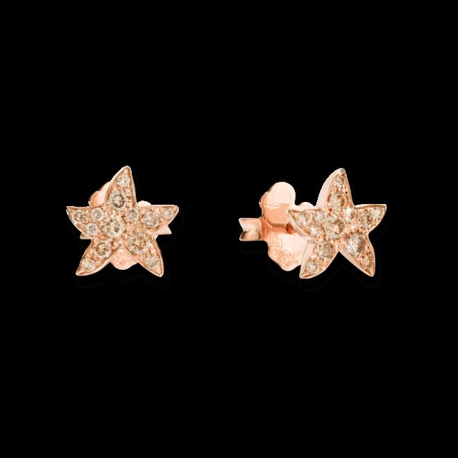 Ohrstecker Dodo Seestern Diamant aus 375 Roségold mit mehreren Diamanten (2 x 0,16 Karat)