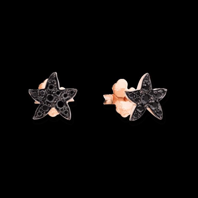 Ohrstecker Dodo Seestern aus 375 Roségold mit mehreren Diamanten (2 x 0,16 Karat)