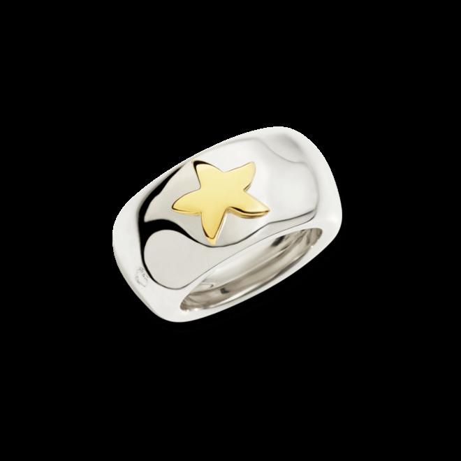 Ring Dodo Seestern aus 925 Sterlingsilber und 750 Gelbgold