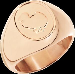 Ring Dodo Sigillo aus 375 Roségold