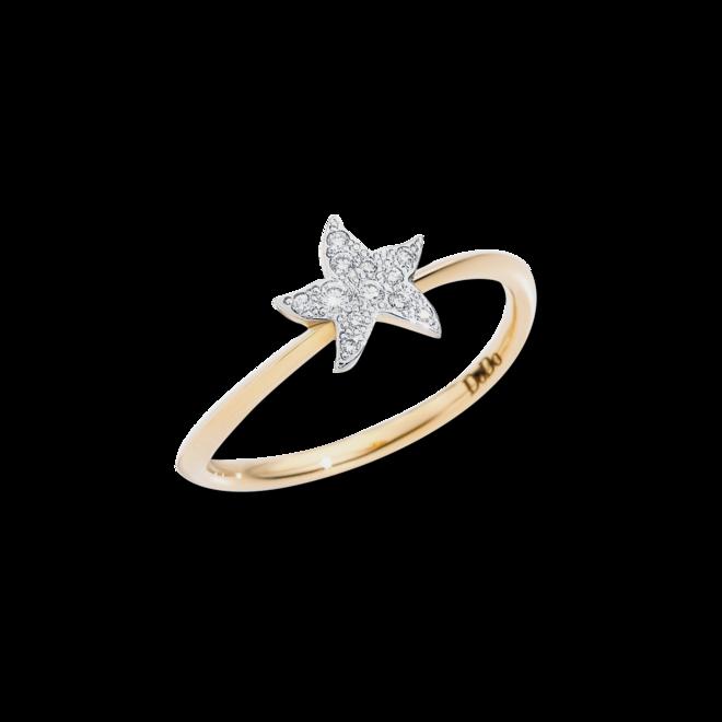 Ring Dodo Stern aus 750 Gelbgold mit 11 Brillanten (0,08 Karat) bei Brogle