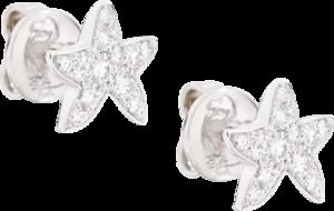 Ohrstecker Dodo Sternchen aus 750 Weißgold mit 13 Diamanten (2 x 0,08 Karat)