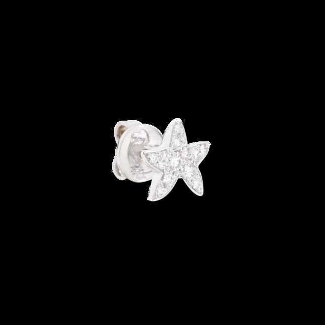 Ohrstecker Dodo Sternchen aus 750 Weißgold mit 13 Diamanten (2 x 0,08 Karat) bei Brogle