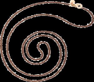 Halskette Dodo Essentials aus 925 Sterlingsilber und 375 Roségold