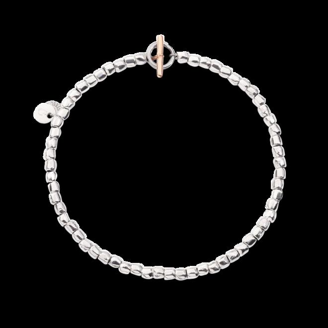Armband Dodo Mini Granelli aus 375 Roségold, 925 Sterlingsilber und Edelstahl Größe M