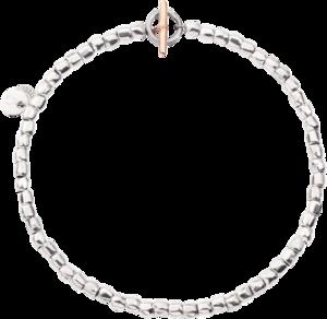 Armband Dodo Mini Granelli aus 375 Roségold, 925 Sterlingsilber und Edelstahl Größe S