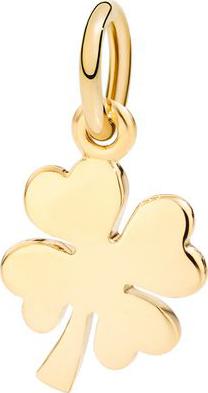 Charm Dodo Kleeblatt aus 750 Gelbgold