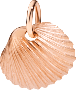 Charm Dodo Muschel aus 375 Roségold
