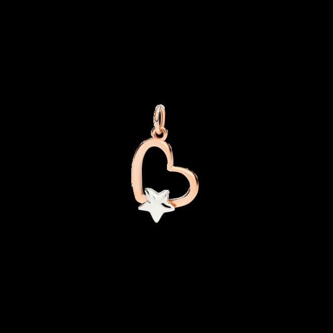 Anhänger Dodo Herz mit Stern aus 375 Roségold und 375 Weißgold bei Brogle