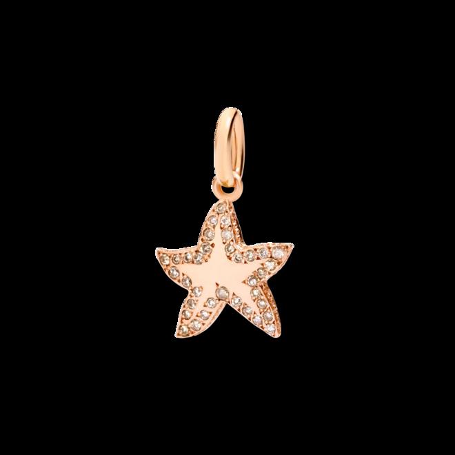 Charm Dodo Sternchen aus 375 Roségold mit Diamant bei Brogle