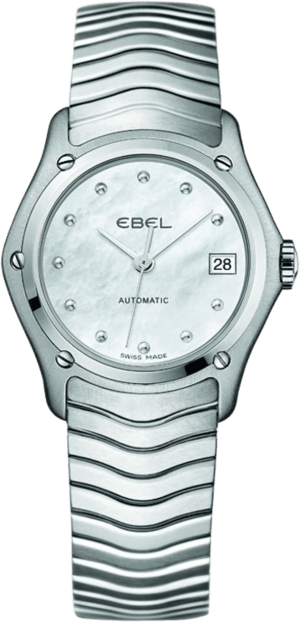 Damenuhr Ebel Classic Lady Automatic mit perlmuttfarbenem Zifferblatt und Edelstahlarmband