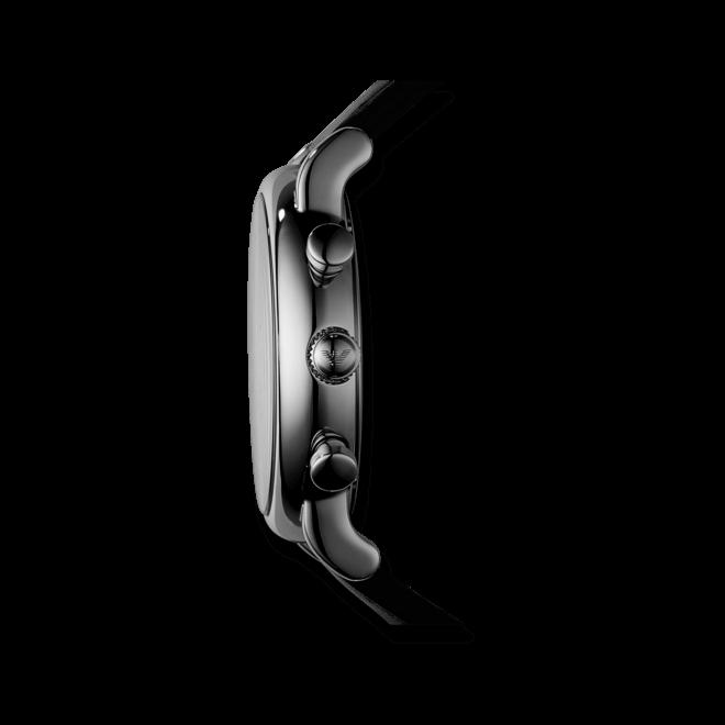 Herrenuhr Emporio Armani Luigi 46mm mit schwarzem Zifferblatt und Kalbsleder-Armband