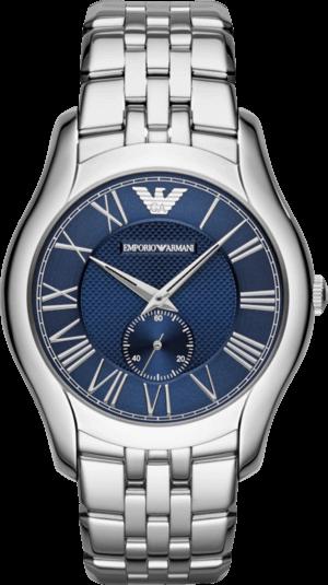 Herrenuhr Emporio Armani New Valente mit blauem Zifferblatt und Edelstahlarmband