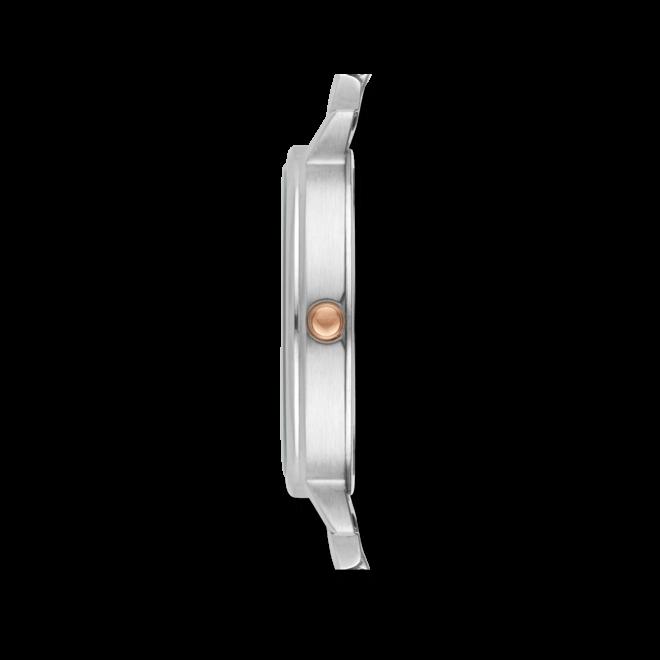Damenuhr Emporio Armani Classic Quarz 32mm mit perlmuttfarbenem Zifferblatt und Edelstahlarmband