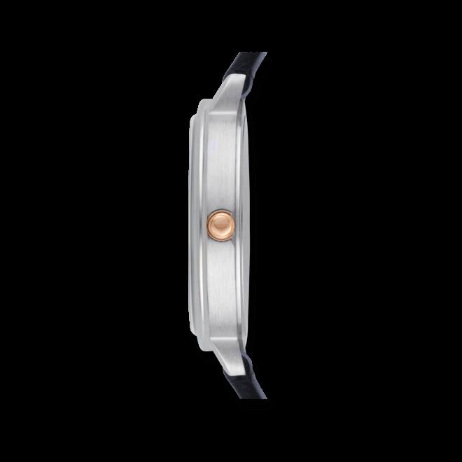 Damenuhr Emporio Armani Classic Quarz 32mm mit perlmuttfarbenem Zifferblatt und Kalbsleder-Armband