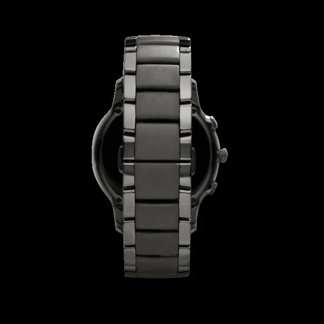 Herrenuhr Emporio Armani Renato Chronograph mit schwarzem Zifferblatt und Keramikarmband