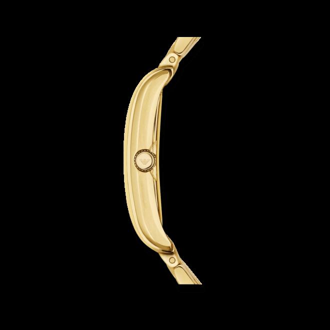 Herrenuhr Emporio Armani Fashion Quarz 30x25mm mit perlmuttfarbenem Zifferblatt und Edelstahlarmband